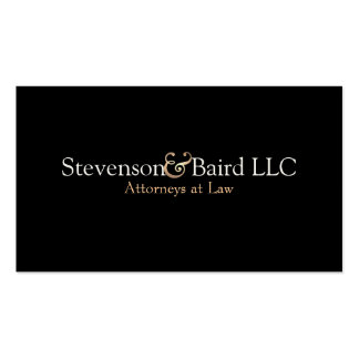 Lawyers Simple and Elegant Black Business Card Pack Of Standard Business Cards