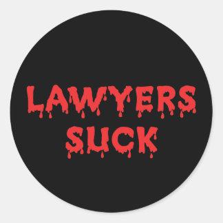 Lawyers Suck Round Sticker