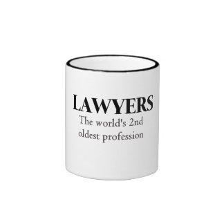 Lawyers, the world's 2nd oldest profession ringer mug
