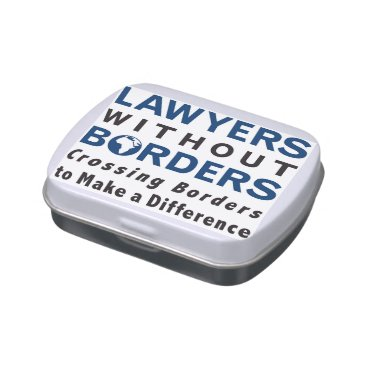 Lawyer Themed Lawyers without Borders Candy Tin