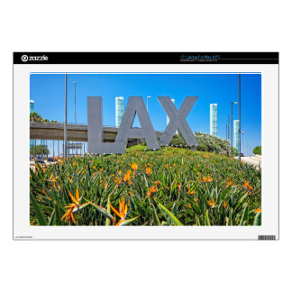 "LAX Airport Sign Decals For 17"" Laptops"