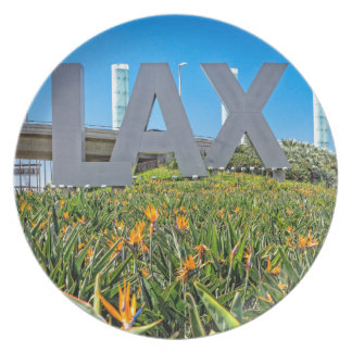 LAX Airport Sign Dinner Plate