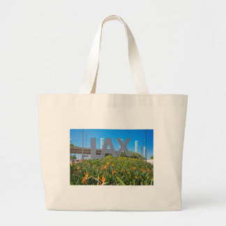 LAX Airport Sign Large Tote Bag