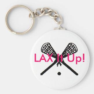 LAX It Up! Basic Round Button Keychain