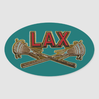 LAX  Lacrosse Personalized Sticker Seal