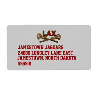 LAX Lacrosse Return Address Label