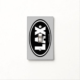 LAX Oval Lacrosse Light Switch Cover
