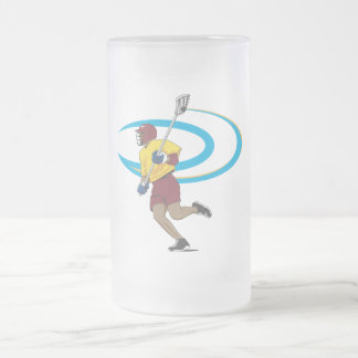 LAX Player Frosted Glass Beer Mug