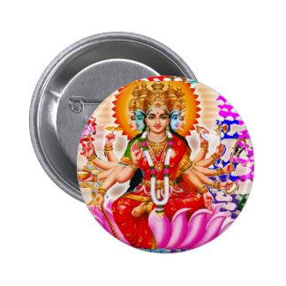 LAXMI - Diosa de la riqueza Pin Redondo 5 Cm