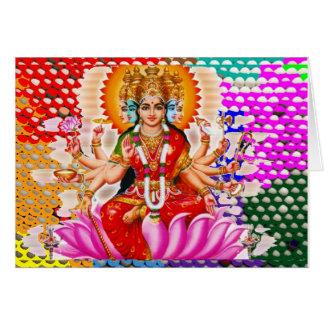 LAXMI - Goddess of Wealth Greeting Card