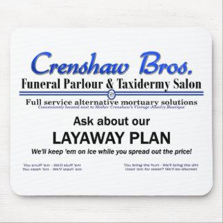 Lay Away Plan Mouse Pad