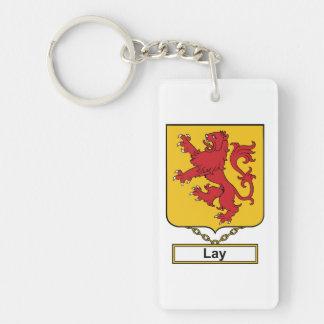 Lay Family Crest Rectangular Acrylic Keychain