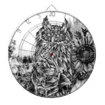 Lay of the land, floral owl dart board