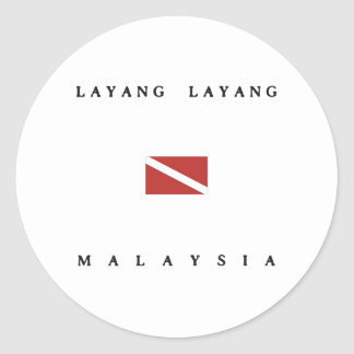 Layang Layang Malaysia Scuba Dive Flag Classic Round Sticker