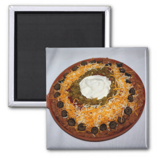 Layer Bean Dip Refrigerator Magnets