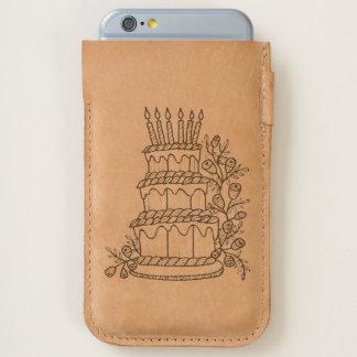 Layer Cake Line Art Design iPhone 6/6S Case