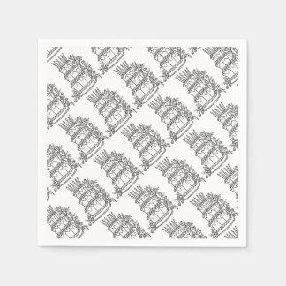Layer Cake Line Art Design Paper Napkin