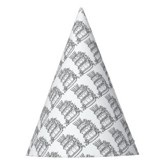Layer Cake Line Art Design Party Hat