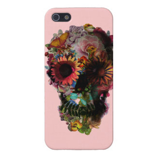"""Layer for iPhone 5 """"Skull of flowers """" Case For iPhone SE/5/5s"""