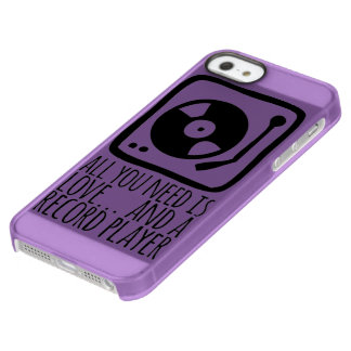 "Layer for iPhone IF + iPhone 5/5s ""Record player "" Permafrost iPhone SE/5/5s Case"