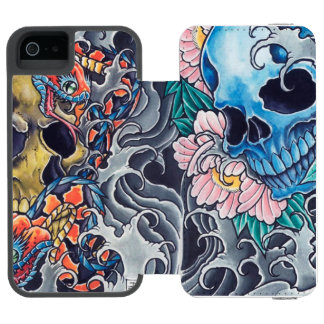 "Layer Wallet for iPhone 5/5s ""Tatto Skulls """