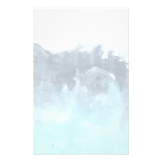 Layered Blues Abstract Painting Stationery