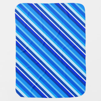Layered candy stripes - cobalt and pale blue baby blanket