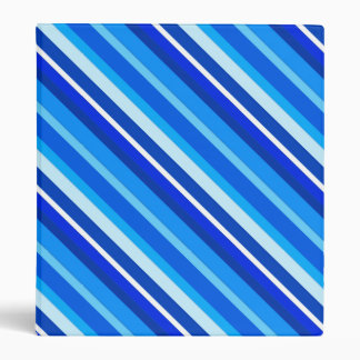 Layered candy stripes - cobalt and pale blue 3 ring binders