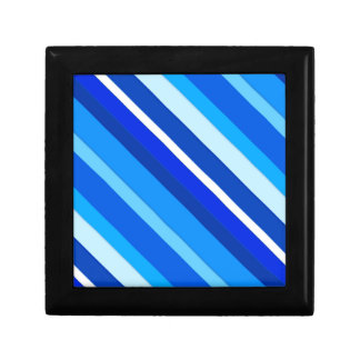 Layered candy stripes - cobalt and pale blue jewelry box