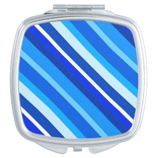 Layered candy stripes - cobalt and pale blue mirror for makeup