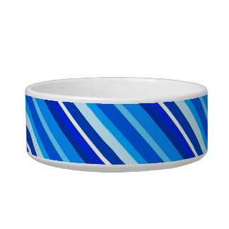 Layered candy stripes - cobalt and pale blue pet water bowls