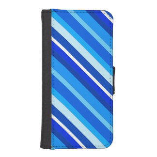 Layered candy stripes - cobalt and pale blue iPhone 5 wallet cases
