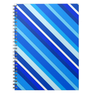 Layered candy stripes - cobalt and pale blue spiral notebook