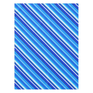 Layered candy stripes - cobalt and pale blue tablecloth