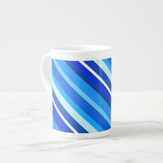 Layered candy stripes - cobalt and pale blue tea cup