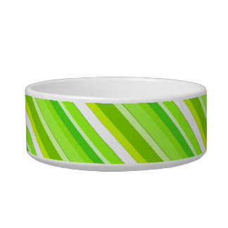 Layered candy stripes - lime green and white pet bowls