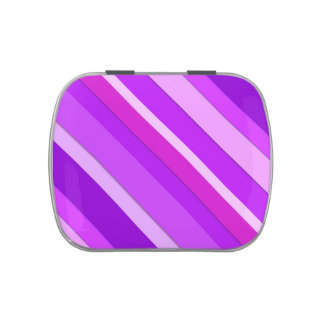 Layered candy stripes - purple and orchid jelly belly candy tin