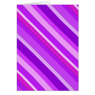 Layered candy stripes - purple and orchid card