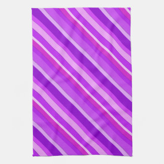 Layered candy stripes - purple and orchid hand towel