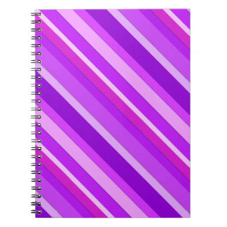 Layered candy stripes - purple and orchid spiral notebook