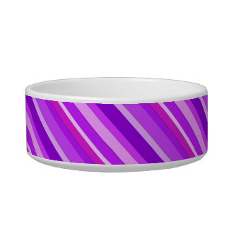 Layered candy stripes - purple and orchid pet bowl