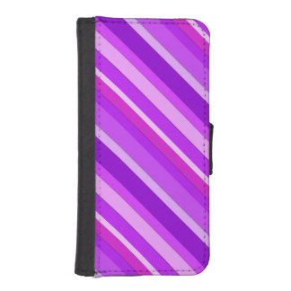 Layered candy stripes - purple and orchid iPhone 5 wallet case