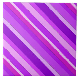 Layered candy stripes - purple and orchid tile