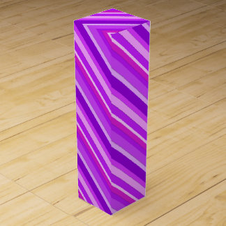 Layered candy stripes - purple and orchid wine box