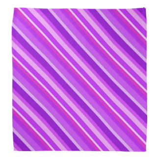 Layered candy stripes - purple and orchid bandanna