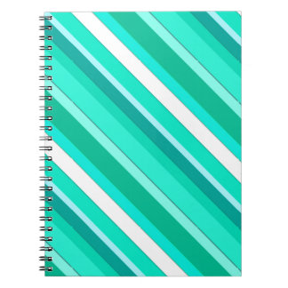 Layered candy stripes - turquoise and white note books