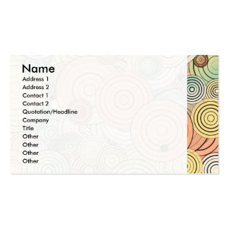 Layered circles business card