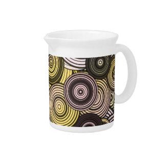 Layered circles drink pitcher