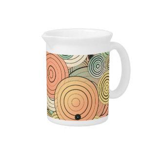 Layered circles pitcher