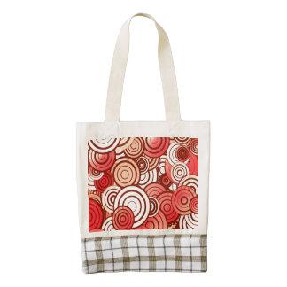 Layered circles zazzle HEART tote bag